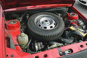 Renault 14 - Renault 14 spare wheel