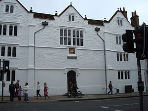 "History of cricket to 1725 - The Royal Grammar School in Guildford where John Derrick was a pupil when he and his friends played ""creckett"" circa 1550."
