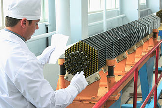 Rosatom - Work on a fuel cassette of the nuclear power reactor at the Novosibirsk Chemical Concentrates Plant, a TVEL subsidiary