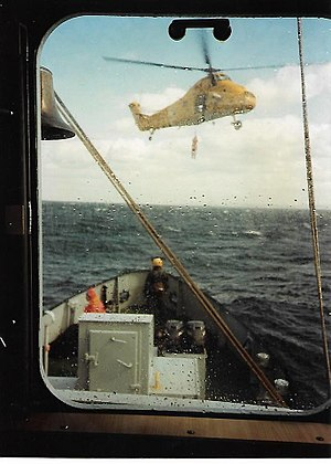 Royal Naval Auxiliary Service - RNXS Crew Training with Air Sea Rescue Forth area