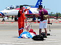 ROCA Dragon Team Crew Repacking Parachute with Photographer 20130601.jpg