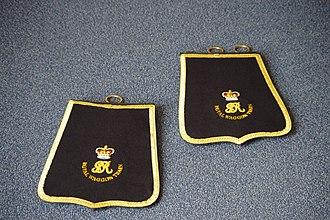 Royal Waggon Train - Ceremonial Officers Sabretaches 1812 used at Croydon