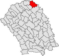 Location of Rădăuți-Prut, Botoșani