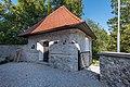 Radovljica Linhartov trg sacristy and chapel southern view 18082017 0431.jpg