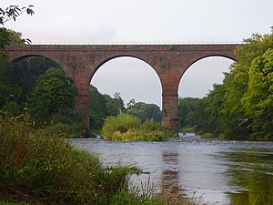 Newcastle & Carlisle Railway - The Wetheral Viaduct is a Grade I listed structure