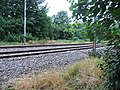 Railway track adjoining footpath - geograph.org.uk - 826956.jpg