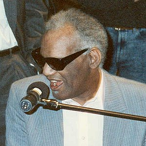 Photo of Ray Charles at Grammy Awards rehearsa...