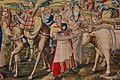 Real Alcázar. Salón de los Tapices. Paño XI. El ejército acampa en Rada (detalle).jpg