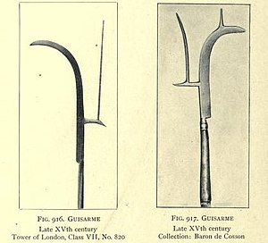 Guisarme - Two examples of Guisarmes