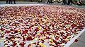 Recycling flowers at Tsitsernakaberd Memorial, 2017 (2).jpg
