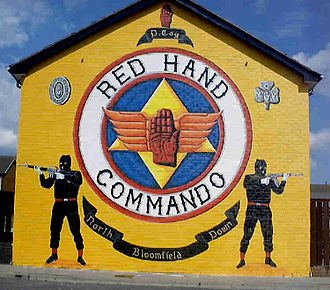 Ulster loyalism - Red Hand Commando mural
