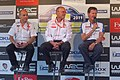 Rees, Quesnel and Wilson at WRC Finland 2011.jpg