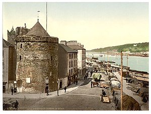 Reginald's Tower - Reginald's Tower and the quay in the 1890s