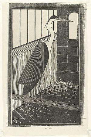 Samuel Jessurun de Mesquita - Heron in a cage (1915) by Samuel Jessurun de Mesquita