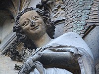 Reims Cathedrale Notre Dame 019 smiling angel.JPG