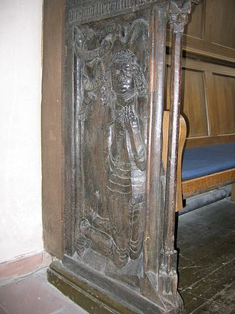 Reinhard IV, Count of Hanau-Münzenberg - Reinhard IV, depicted on the side of the choir stalls in the St. Mary's Church in Hanau