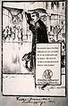 Reklambild från 1915 från Nordiska Kompaniet. En elegant klädd man står bredvid en bil utanför NK - Nordiska Museet - NMA.0032225.jpg