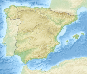 Map showing the location of Monfragüe National Park
