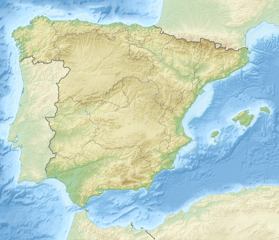 Map Of The Spain.File Relief Map Of Spain Png Wikipedia