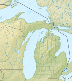 Map showing the location of Southwest Michigan Underwater Preserve
