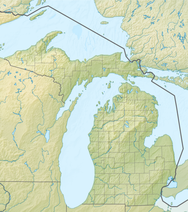Relief map of USA Michigan.png