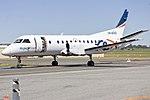 Repainted Regional Express Airlines (VH-KDQ) Saab 340B being towed at Wagga Wagga Airport.jpg