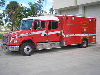 Advanced life support - An ALS Rescue Unit of Palm Beach County Fire-Rescue used for EMS in Palm Beach County, Florida.