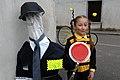 Resia San Giorgio carnival police-man with Maya-bee 03022008 62.jpg