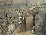 Return of the King of Norway in HMS Norfolk by Stephen Bone IWM IWM LD 5446.jpg