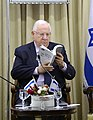 Reuven Rivlin received the Statistical Abstract of the Israel National Council for the Child, «Children in Israel 2016» (2837).jpg