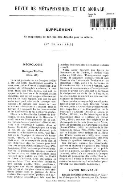 File:Revue de métaphysique et de morale, supplément 3, 1913.djvu