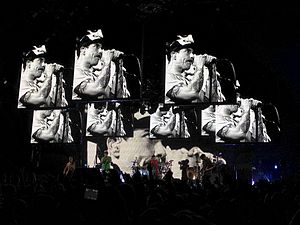 I'm with You World Tour - The band performing on November 20, 2011. From left to right: Flea, Anthony Kiedis, Chad Smith and Josh Klinghoffer