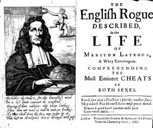 Richard Head - Richard Head as depicted on the frontispiece to the second edition of his The English rogue described in the life of Meriton Latroon (London: F. Kirkman, 1666).
