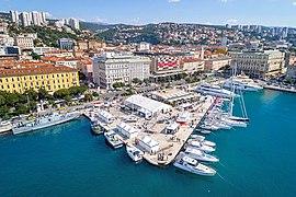 Rijeka Riva promenade aerial.jpg