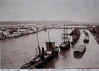 Guadalquivir - 1892 flood in Seville