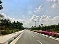 Road leading to Vijayawada Airport (November 2018).jpg