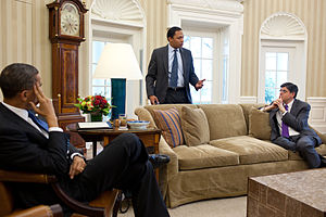 Jack Lew - Lew meeting with President Barack Obama and the Legislative Affairs Director Rob Nabors