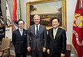 Robert O'Brien, Shigeru Kitamura and Chung Eui-yong at the White House.jpg