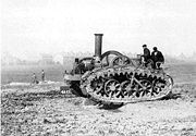 Roberts tracked steam tractor