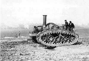 Richard Hornsby & Sons - Hornsby paraffin-driven tracked tractor.
