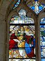 Roberval (60), église Saint-Remy, croisillon sud, verrière n° 6, 2e régistre, gauche - mariage mystique de la Vierge.JPG