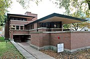 The Robie House on the University of Chicago campus