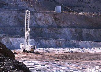 Robinson Mine - Drilling blast holes at the Robinson copper mine in 2004