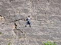 Rock climber on the Black Wall - geograph.org.uk - 691682.jpg
