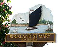 Rockland St Mary - village sign (close-up) - geograph.org.uk - 1330218.jpg