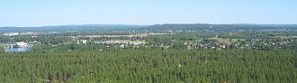 Boden Municipality - Southern Boden seen from Rödbergsfortet, part of Boden Fortress.