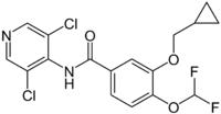 Struktur von Roflumilast