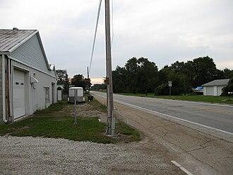 Scott Township, Sandusky County, Ohio - Township border scene in Rollersville