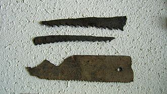 Saw - Roman sawblades from Vindonissa approx. 3rd to 5th century AD