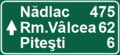 Romania Motorway Distance Sign.png